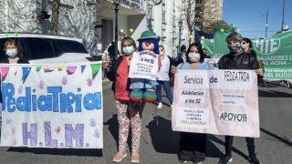 Protesta de trabajadores de la Salud Pública