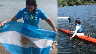 Juliana Garro, kayakista pampeana, mundial